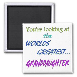 La nieta más grande de los mundos imán cuadrado