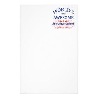 La nieta más impresionante del mundo papeleria personalizada
