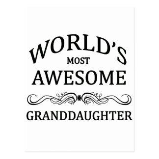 La nieta más impresionante del mundo tarjetas postales