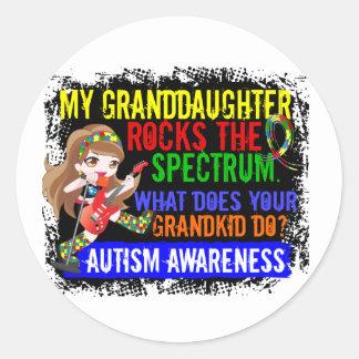La nieta oscila el autismo del espectro pegatina redonda