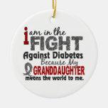 La nieta significa el mundo a mí diabetes ornamento de navidad