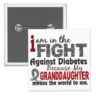 La nieta significa el mundo a mí diabetes pin cuadrado