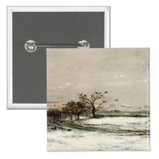 La nieve, 1873 pin cuadrada 5 cm