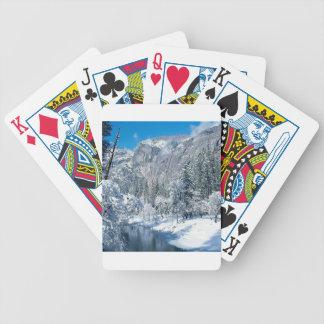La nieve de la montaña se reúne el par de Yosemite Baraja Cartas De Poker