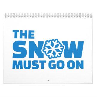 La nieve debe encenderse calendario de pared