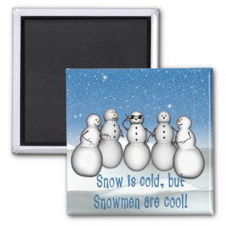 La nieve del KRW es fría pero los muñecos de nieve Imán Para Frigorífico
