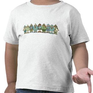 La nieve embroma la camiseta de Twofer del niño