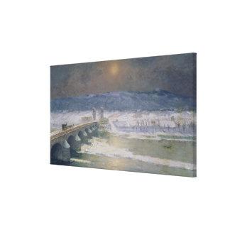 La nieve en el Auvergne, 1886 Impresión En Tela