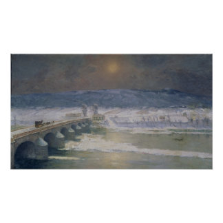 La nieve en el Auvergne, 1886 Póster