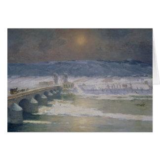 La nieve en el Auvergne, 1886 Tarjeta De Felicitación