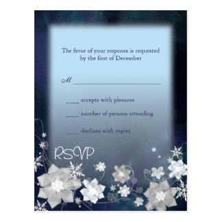 La nieve florece el invierno elegante que casa RSV Postal
