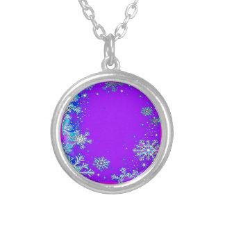 La nieve forma escamas crepúsculo púrpura por Shar Pendiente Personalizado