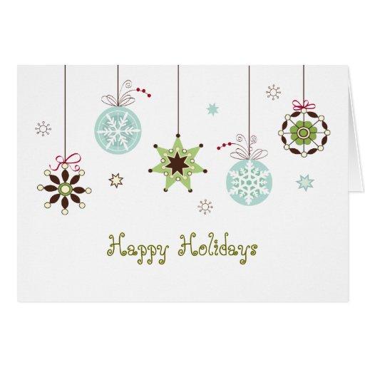 La nieve forma escamas tarjeta de felicitaciones d