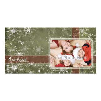 La nieve forma escamas tarjeta de la foto del día  tarjeta fotografica personalizada