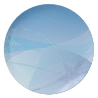 La nieve gráfica abstracta forma escamas placa de  platos de comidas