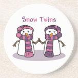 La nieve hermana a chicas posavasos para bebidas
