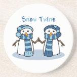 La nieve hermana a muchachos posavasos manualidades