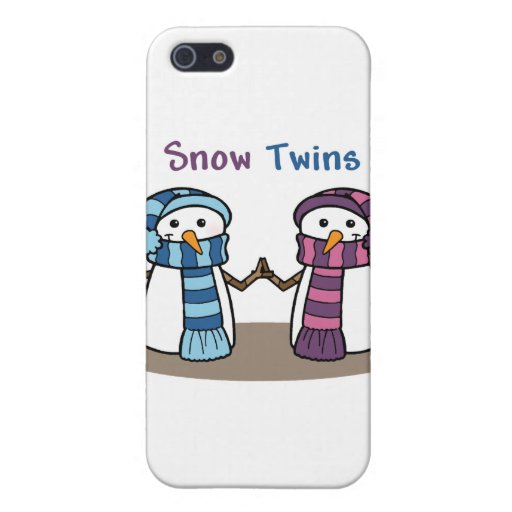 La nieve hermana el muchacho y al chica iPhone 5 coberturas