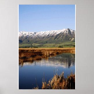 La nieve remató la montaña del wellsville póster