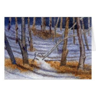 """La """"nieve sombrea"""" la tarjeta de felicitación de"""