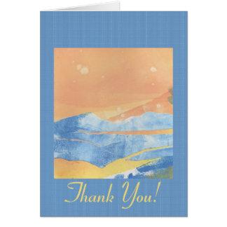 La nieve temprana le agradece cardar tarjeta de felicitación