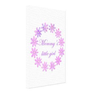La niña de la mamá (flores rosadas) impresiones en lienzo estiradas