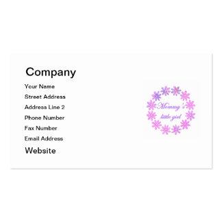La niña de la mamá (flores rosadas) tarjetas de visita