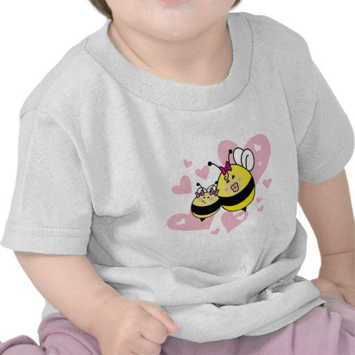 La niña de la mamá/maman menudo del à del fille camisetas