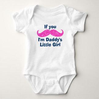 La niña del papá del bigote body para bebé