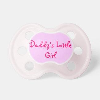 La niña del papá - pacificador del personalizado d chupetes para bebés