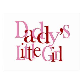 La niña del papá tarjetas postales