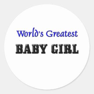 La niña más grande del mundo pegatina redonda