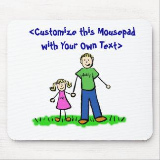 La niña Mousepad del papá (rubio) Alfombrilla De Raton