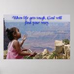 La niña pregunta a dios impresiones