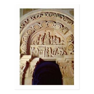 La niñez de Cristo, tímpano del portal derecho, Tarjeta Postal