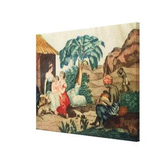 La niñez de Paul y de Virginie Impresión De Lienzo