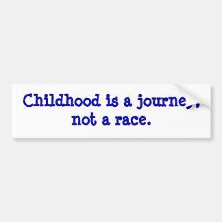 la niñez es un viaje pegatina de parachoque