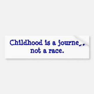 la niñez es un viaje pegatina para auto