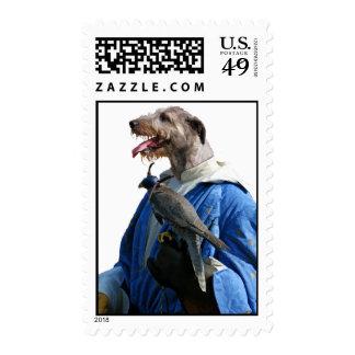 La nobleza del franqueo del Wolfhound irlandés