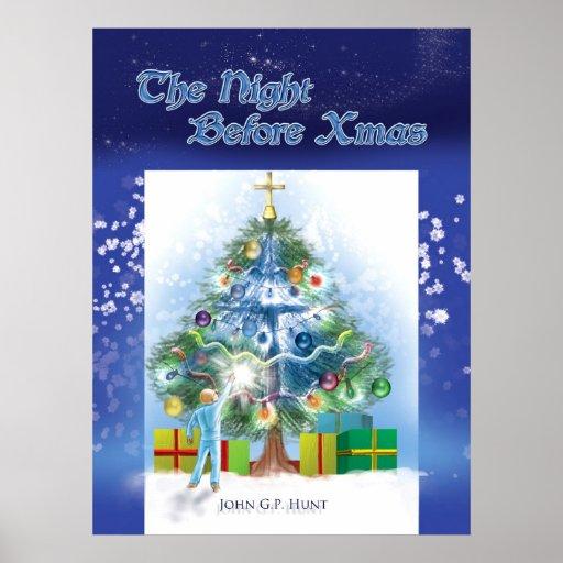 La noche antes de Navidad - cubierta de libro Póster