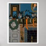 La noche antes del navidad de Denlow, 1903 (color Impresiones