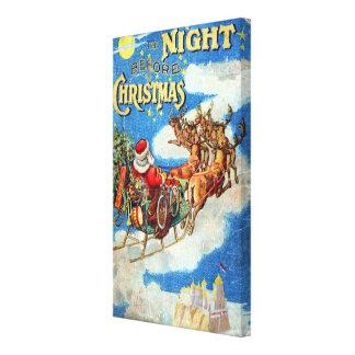 La noche antes del navidad impresión de lienzo