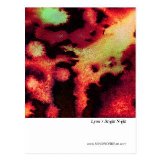 La noche brillante de Lynn Tarjeta Postal