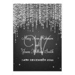 La noche de boda elegante deslumbra negro invitación 12,7 x 17,8 cm
