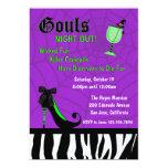 La noche de Gouls hacia fuera invita [la púrpura] Invitación