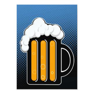 """La noche de la cerveza invita invitación 5"""" x 7"""""""