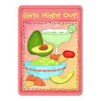 """La noche de los chicas del Guacamole de Margarita Invitación 5"""" X 7"""""""