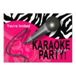 La noche de los chicas del Karaoke de la cebra Comunicados Personalizados
