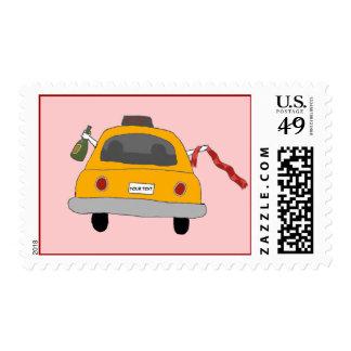 La noche de los chicas hacia fuera lleva en taxi sellos