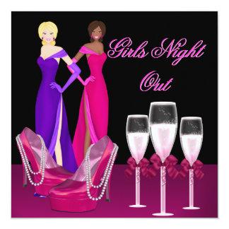 """La noche de los chicas hacia fuera pica los invitación 5.25"""" x 5.25"""""""